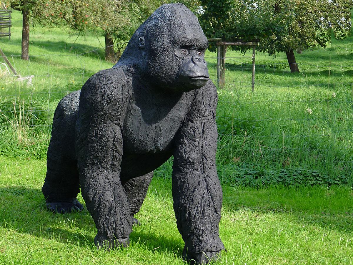 Gorilla - Wolfgang Herbst: 3D-Tiere für Bogensport, Dekoration, Werbung - tier.art