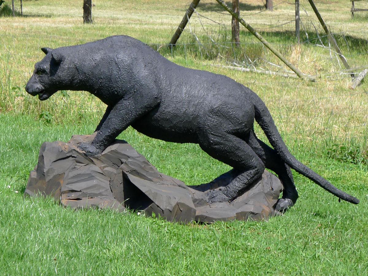 Panther - Wolfgang Herbst: 3D-Tiere für Bogensport, Dekoration, Werbung - tier.art
