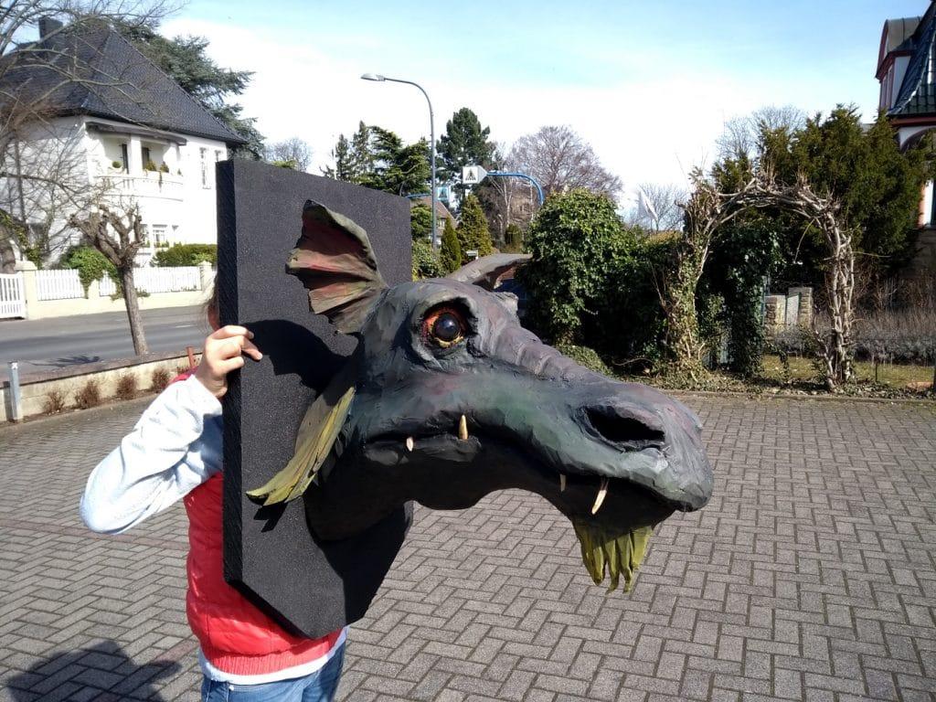 Wolfgang Herbst: 3D-Tiere für Bogensport, Dekoration, Werbung - tier.art - Drachenkopf